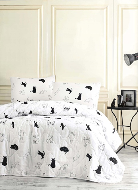 Eponj Home Tek Kişilik Yatak Örtüsü Siyah